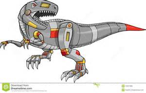 vector of a robot t rex dinosaur royalty free stock images