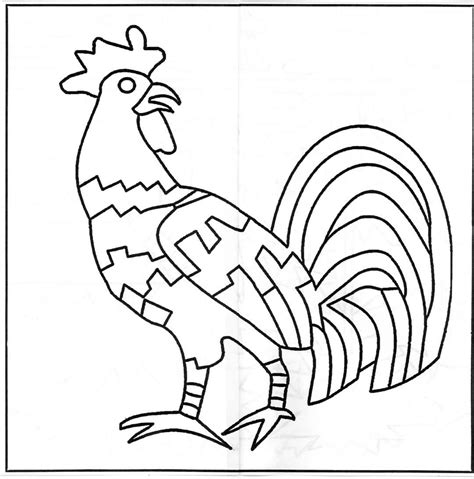 rooster template rooster stencils free images