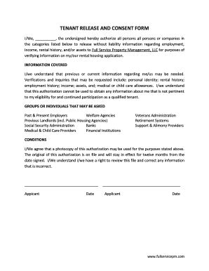 authorization letter of tenant bill of sale form landlord tenant credit check