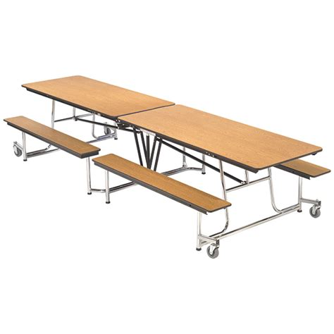 cafeteria bench amtab mbt08 mobile bench cafeteria table 30 quot w x 8 1 quot l