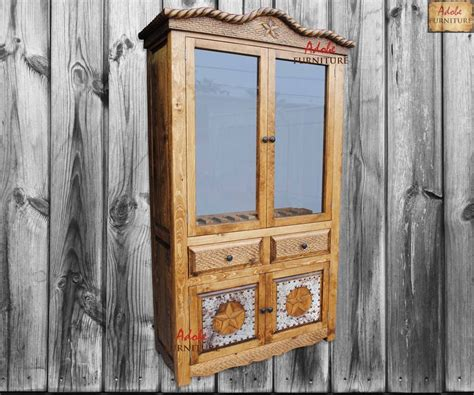western rustic gun cabinet crafted in solid wood with