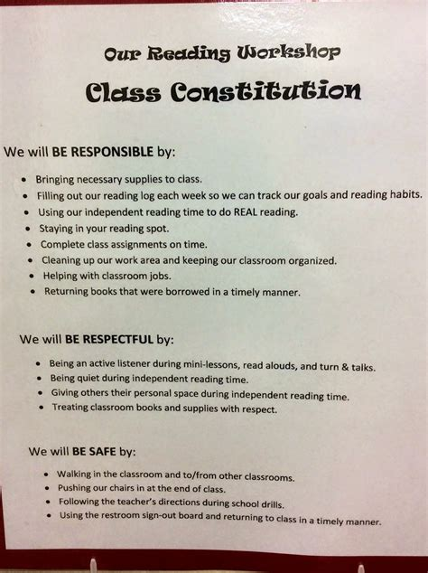 class constitution template the dish quot we the quot creating class constitutions