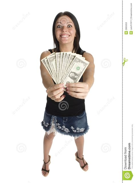Dream About Winning Money - young women winning money stock photos image 2865053