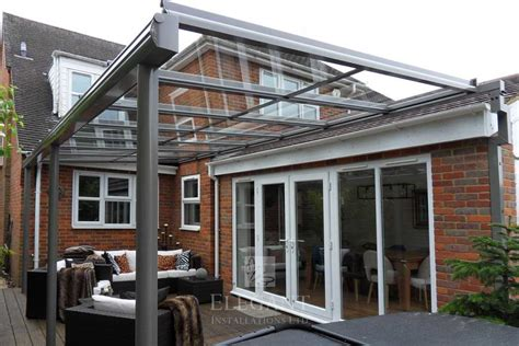 glass veranda uk glass veranda in buckinghamshire on brackets
