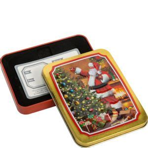 Party City Gift Card - classic santa gift card holder tin 3 1 2in x 4 1 2in party city