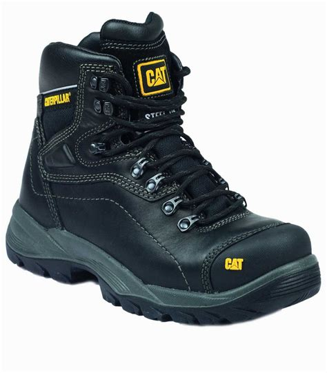 Caterpillar Safety Black High caterpillar diagnostic black safety boots charnwood