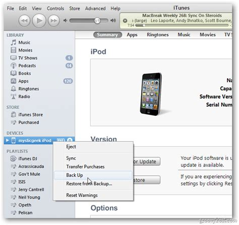 devices section in itunes apple ios 5 how to upgrade your iphone ipad or ipod