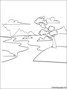 River Coloring Page  Pages sketch template