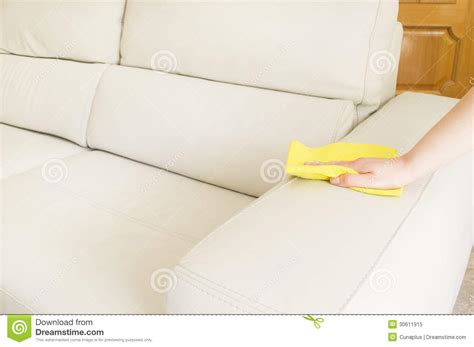 cleaning cloth couch cleaning a beige sofa stock image image of horizontal