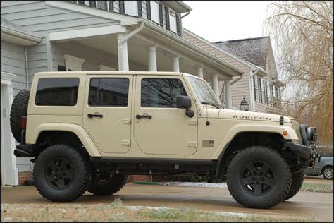 military jeep tan 2012 sahara tan jkur build american expedition vehicles