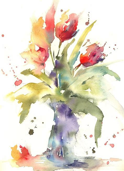 watercolor tutorial pinterest simple loose watercolour tulip s with andrew geeson