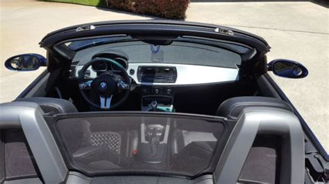 bmw z4 3 0i 2007 6 speed manual trans blue convertible black interior
