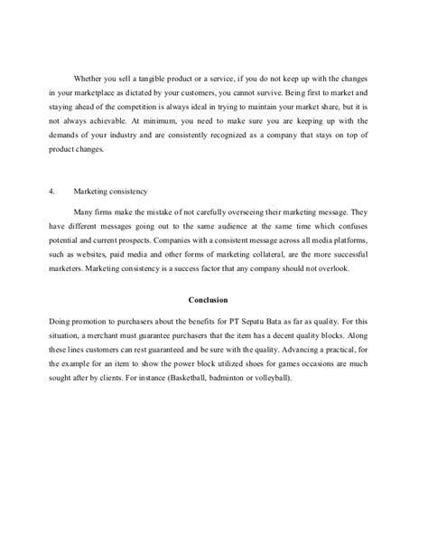 Sepatu Badminton Bata pt sepatu bata tbk strategic management