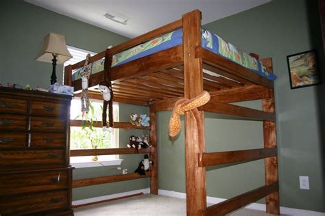 woodwork diy queen loft bed plans  plans