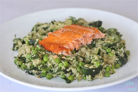 dinner salmon salmon and green quinoa