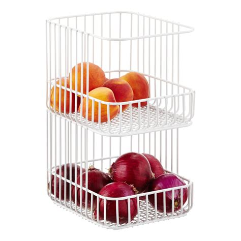 scala steel wire stackable basket the container store