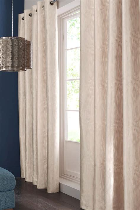 next home bedroom curtains buy rose gold metallic wave eyelet curtains from the next