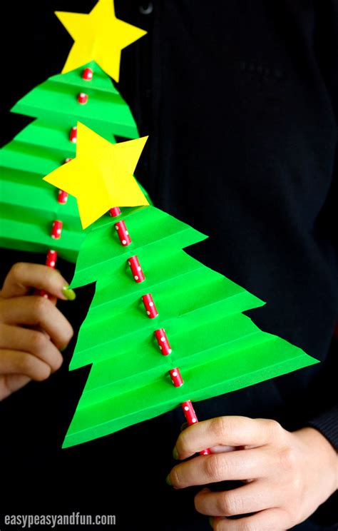 paper christmas treecraft accordion paper tree easy peasy and