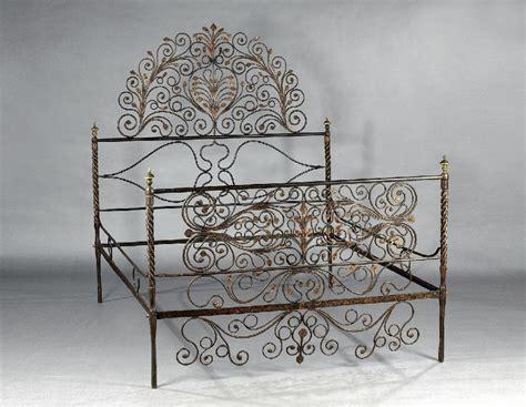 letto antico ferro battuto letto in ferro battuto cm 200x160x210 asta asta di