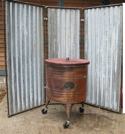 industrial room dividers details about industrial upcycled steam tin metal room divider outdoor shower enclosure