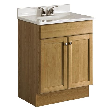 Shop Project Source Golden Integrated Single Sink Bathroom 24 In Bathroom Vanity With Sink