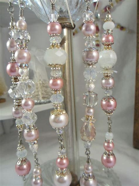 pink pearl christmas ornament dangles christmas dangles