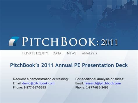 Pitchbook S 2011 Annual Pe Presentation Deck Pitch Book Ppt
