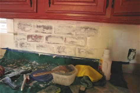 painted brick backsplash remembered partially removing paint from brick