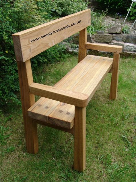 rustic outdoor bench 25 great ideas about oak bench on pinterest