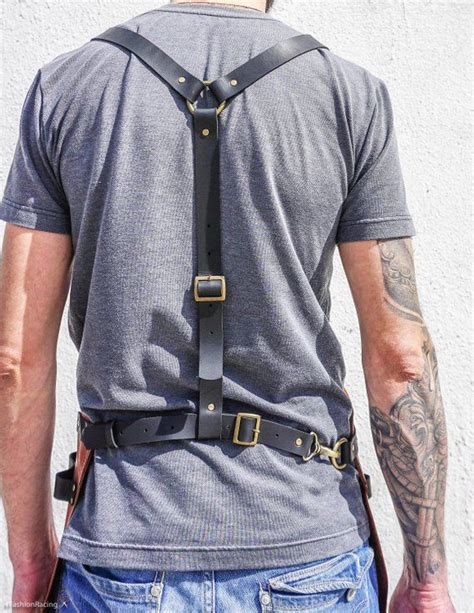 leather apron personalized gift  blacksmith barber