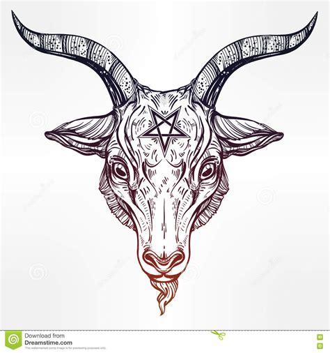 pentagram con el demonio baphomet cabeza sat 225 nica de la