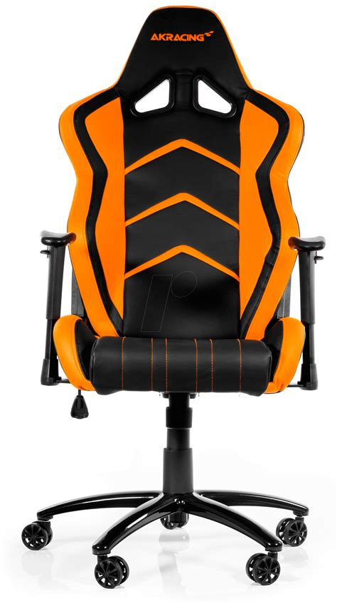 orange and black gaming chair ak k6014 bo akracing player gaming chair black orange