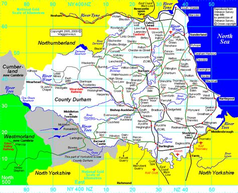 Durham County Records Railway Map Of County Durham Uk Waggonways
