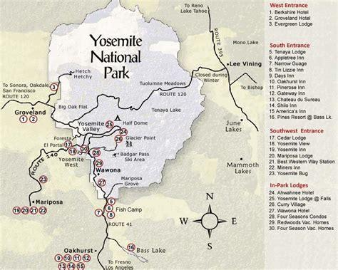 map of yosemite area yosemite national park