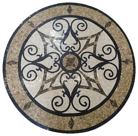 mosaic polished floor medallions tile medallion marble