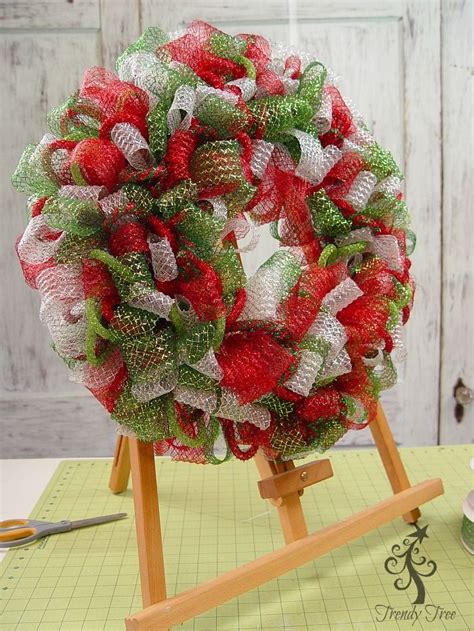 mesh ribbon christmas tree tutorial basic wreath kit trendy tree wreath tutorial and wreaths