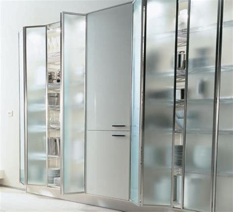 Modern Glass Kitchen Cabinets Modern Europeans Combine Glass Kitchen Cabinet And Stainless Stell From Ernestomeda Kitchen