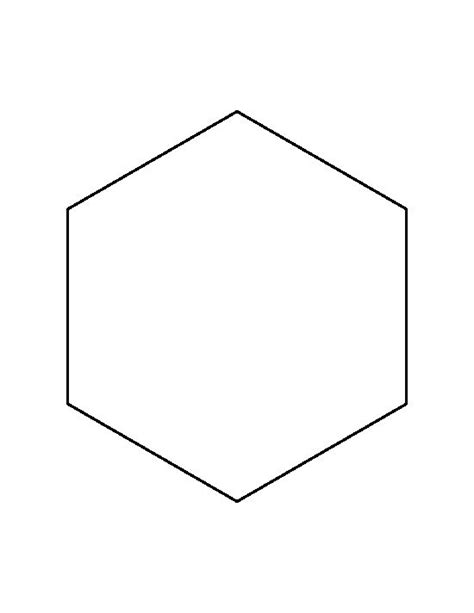 2 Inch Hexagon Pattern Use The Printable Outline For - 7 inch hexagon pattern use the printable outline for