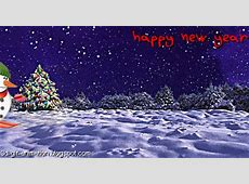 Greeting Happy new year animated photos sayings Free Clip Art Santa And Reindeer