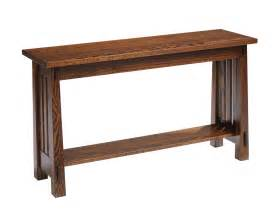 sofa table country mission sofa table amish furniture designed