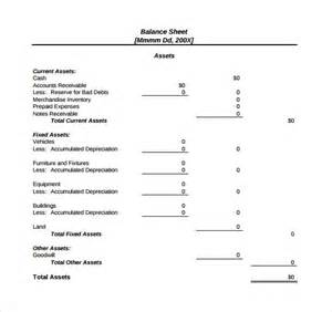 checking account balance sheet template sle balance sheet 11 documents in word pdf excel