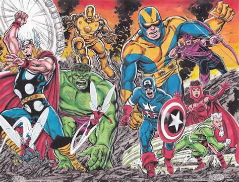 avengers by john byrne john byrne avengers assembled 1 colored in rich cirillo s rich s original colors comic art