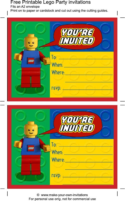 printable birthday cards lego printable lego birthday invitations scribd aaron s