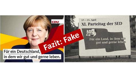 Plakat Xi Parteitag Der Sed by Angela Merkel Wahlkfplakat Mit Sed Spruch Ist Eine