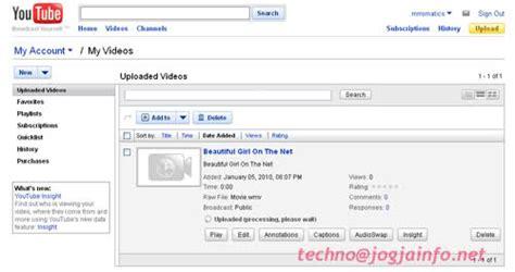 gimana cara upload video di youtube cara upload file movie ke youtube media informasi online