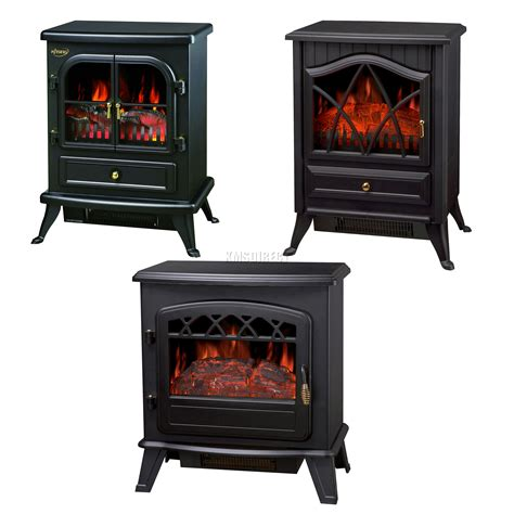 Standing Fireplace by Log Burning Effect 1850w Electric Heater