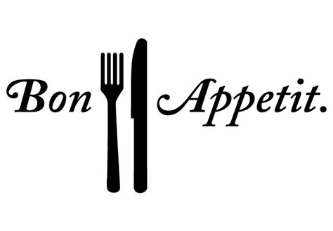 Grey And White Home Decor bon appetit wall decal kitchenvinyl decor