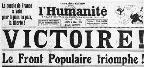 Calendrier 8 Mai 1937 3 Mai 1936 Le Front Populaire En Aujourd Hui L