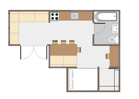 Home Plans And Designs Joseph Sandy 187 Small House Floor Plan 350 Sq Ft