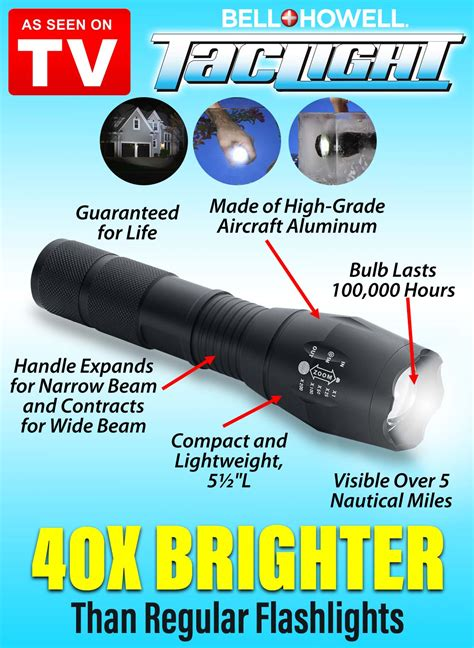 bell and howell tac light flashlight bell howell taclight carolwrightgifts com